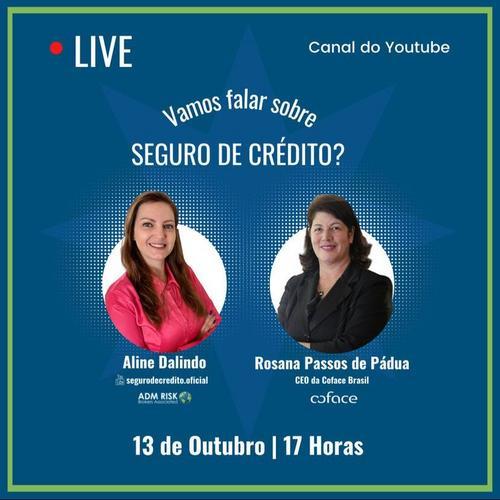 Disponível em nosso canal do YouTube: LIVE - Vamos falar sobre SEGURO DE CRÉDITO?